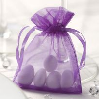 Purple Organza Favour Bags (10)